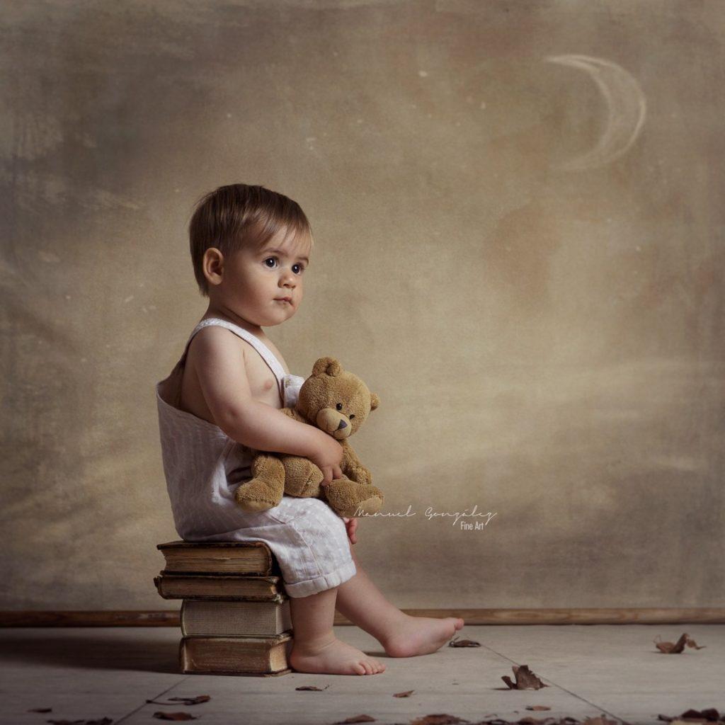 Sesión de fotografía infantil miradas