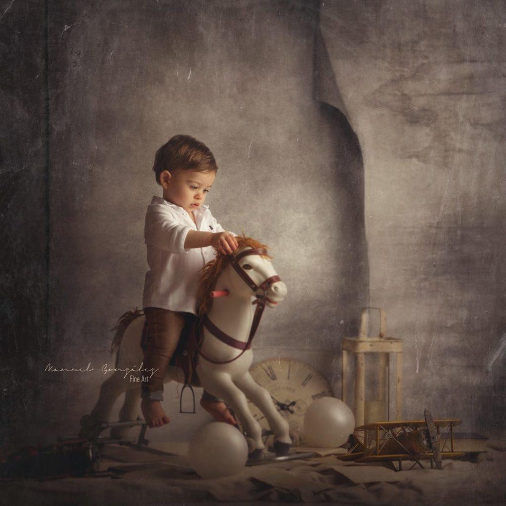Sesión Fotografía Infantil desván